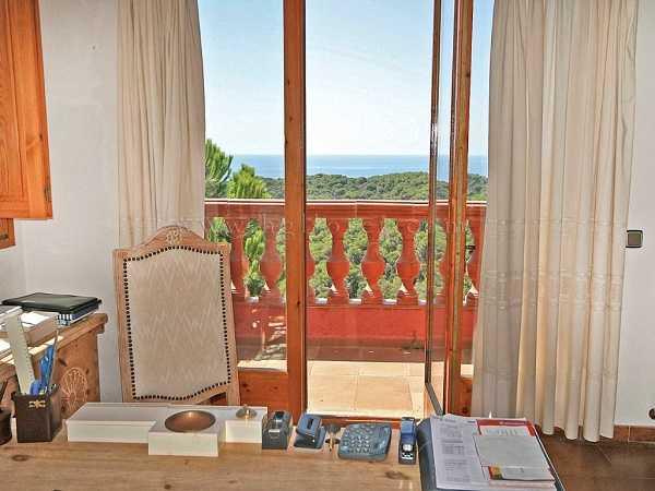 kaufen Haus Blick Meer Gebirge Canyelles Kabinett Ausblick