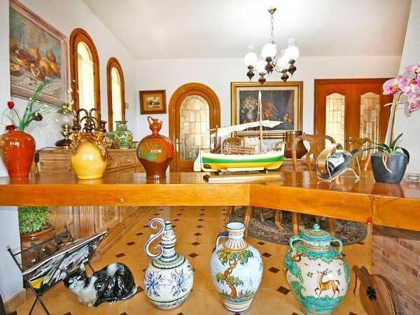 kaufen Haus Blick Meer Gebirge Canyelles Wohnzimmer 2
