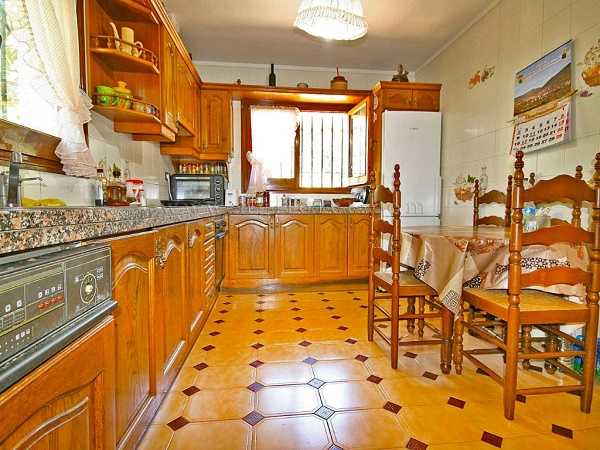 kaufen Haus Blick Meer Gebirge Canyelles Kuche